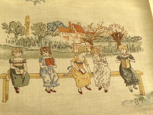 New ! ! ผ้า Lecien Japan: Kate Greenaway Lady Holliday